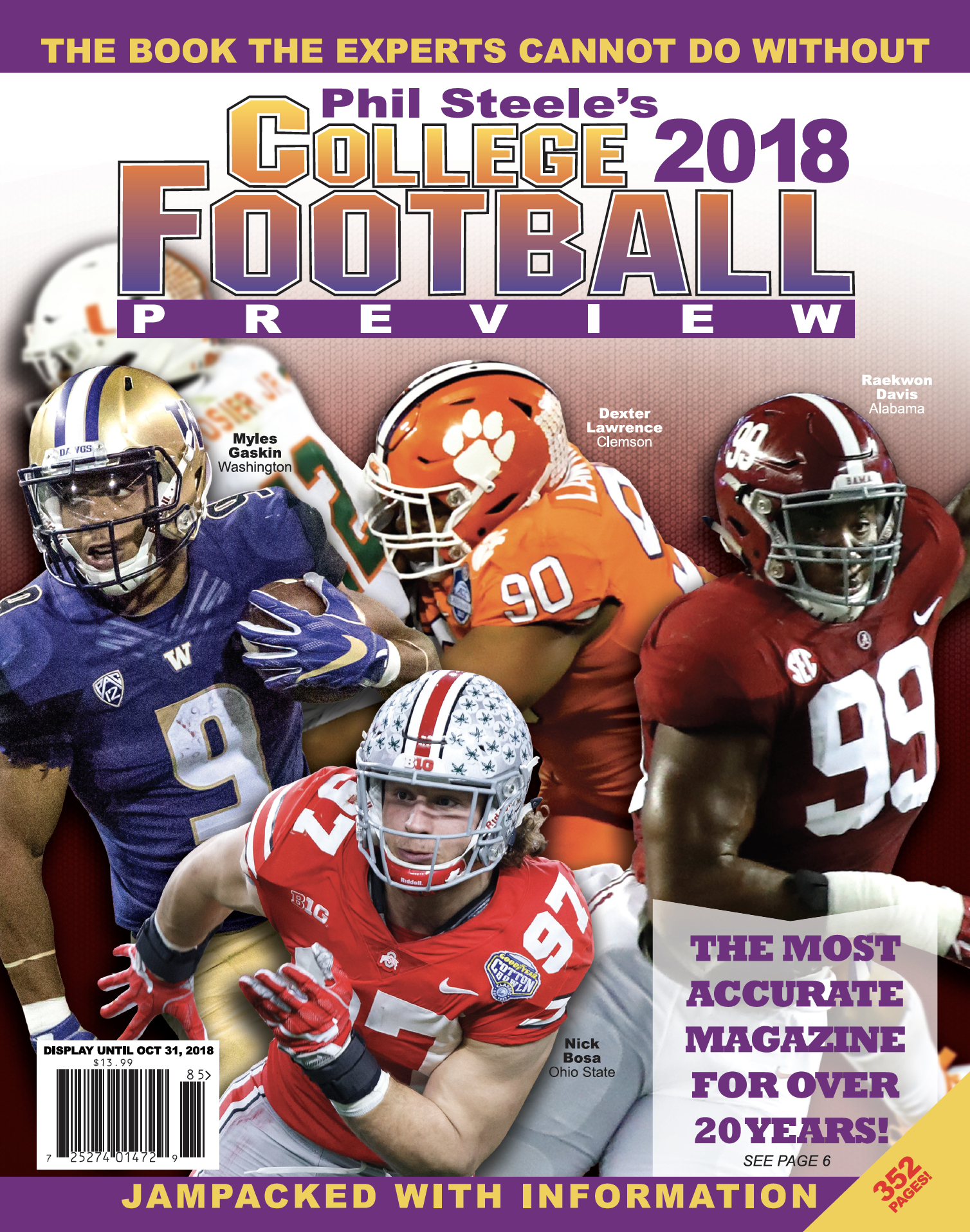 Available in Stores Now!! Phil Steele's 2018 College