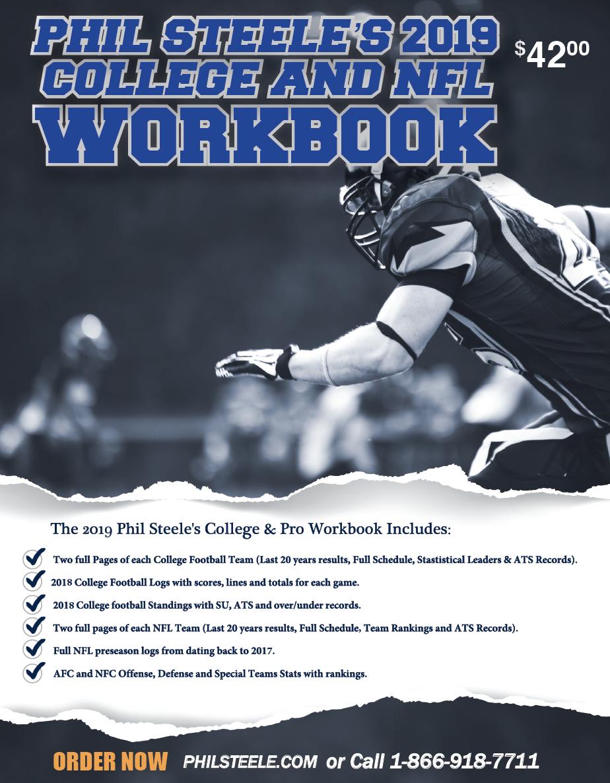 Phil Steele's 2019 College and NFL Workbook  – Phil Steele